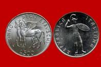600b9a404a ANNO DEGLI ETRUSCHI 1985 MONETA 500 LIRE D'ARGENTO INCASTONATA IN  PORTACHIAVI GIOIELLO UNICO