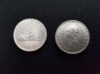 487e833701 CARAVELLE CONIO 1958 MONETA 500 LIRE D'ARGENTO INCASTONATA IN PORTACHIAVI  GIOIELLO UNICO