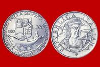 3d24e95d6c CRISTOFORO COLOMBO CONIO 1989 MONETA 200 LIRE D'ARGENTO INCASTONATA IN  PORTACHIAVI GIOIELLO UNICO