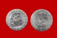 ffd67b85aa CRISTOFORO COLOMBO CONIO 1990 MONETA 500 LIRE D'ARGENTO INCASTONATA IN  PORTACHIAVI GIOIELLO UNICO